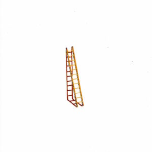 'Painted Ladder' references the artist's palette and is made up of several colours from previous drawings. The shadow is the resulting colour of everything being mixed together. Over the course of Lathwood's practice, ladders have been an important symbol of change, desire and aspiration. They are the quintessential tools to get over something, to conquer obstacles and shift a view point. During the Covid-19 lockdown she started a new series of gouache paintings of very small ladders on paper. The ladders were either drawn from imagination, observation or sent in by individuals also enthused by ladders.