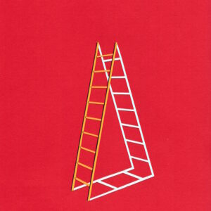 'Shadow Ladder #3' is part of an ongoing series of ladders made using recycled paper. Over the course of Lathwood's practice, ladders have been an important symbol of change, desire and aspiration. They are the quintessential tools to get over something, to conquer obstacles and shift a view point.